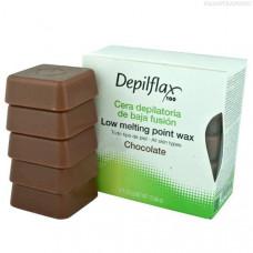 Depilflax, воск горячий 0, 5 кг, какао  (шоколад)