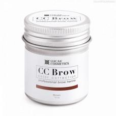 Lucas' Cosmetics, Хна для бровей CC Brow, коричневая, в баночке, 10 г