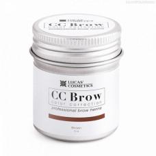 Lucas' Cosmetics, Хна для бровей CC Brow, коричневая, в баночке, 5 г