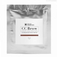 Lucas' Cosmetics, Хна для бровей CC Brow, коричневая, в саше, 5 г