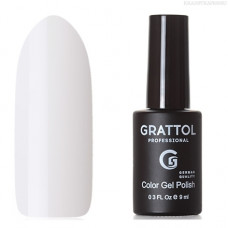 Grattol, Гель-лак Classic Collection №001, White