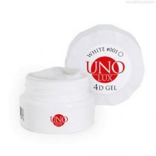 UNO LUX, 4D-гель №001, белый