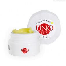 UNO LUX, 4D-гель №006, желтый